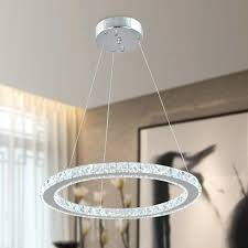 chandelier round single rings modern led crystal chandelier round hanging lamp for dinning room er illumination chandelier round