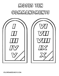 Free Coloring Pages 10 Commandments At - glum.me