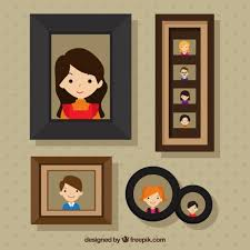 frames with family pictures free vector