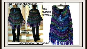 Youtube Free Crochet Patterns Best 48 Hour CROCHET PONCHO Free Crochet Pattern 48 GOSSAMER Poncho