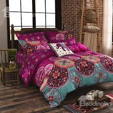 fancy bohemian style polyester 4 piece bedding sets duvet cover