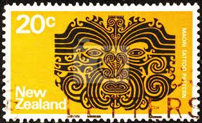 Fototapeta Maori Tetování Vzor Na Novozélandské Poštovní Známky