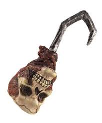 metal pirate hook. blood skull pirate hook hand w/ sound toy halloween accessory prop rubies 6590 metal