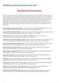 High School Biology Ecology Worksheets | Homeshealth.info