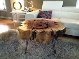 side tables tree trunk side table silver stump coffee end tables made from trunks