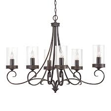 Shop Kichler Diana 35 98 In 6 Light Olde Bronze Williamsburg Clear