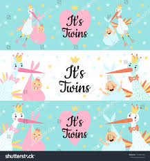 Baby Banners Template Vector Illustration Set Template Banners Hand Stock Vector Royalty