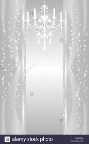 Silberner Hintergrund Mit Kronleuchter Stockfoto Bild