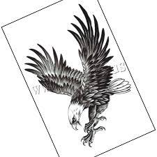Tetování Samolepka Papír Orel Vodotěsný 190x120mm 30pcbag Bag