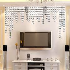 Mirror Tiles Decorating Ideas 100 Piece Self adhesive Mirror Tile 100D mirror Wall Stickers Decals 57