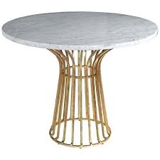 wicker table bases for glass tops white marble stands out beautifully against the antique gold finish