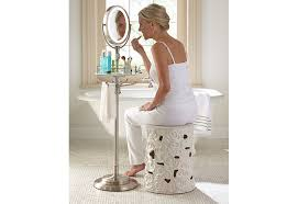 lighted height adjule floor stand mirror 5x 1x model ledfl45 you free