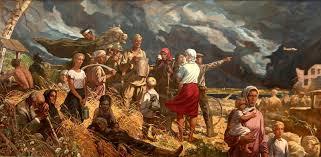 Отражения Великой Победы в культуре  Дипломная работа И С Глазунова Дороги войны изображающая отступающую советскую армию в 1941 году 1957 год создания