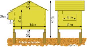 plan de construction d un poulailler sur pilotis pour trois poules