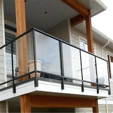 design balcony railing glass indoor outdoor terrace stainless steel cost india railin