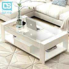 tempered glass coffee table wood simple modern simplicity small house creative malaysia