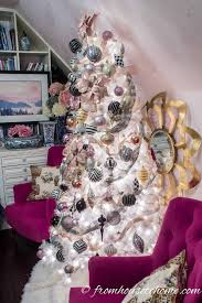 Light Pink And White Christmas Tree Blush Pink White And Black Christmas Tree And 20 Other
