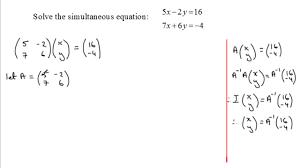 amazing simultaneous equations matrix method examsolutions solver full size