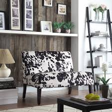 Wicker Black and White Faux Cow Hide Fabric 2-seater Accent Loveseat by  iNSPIRE Q Bold - Free Shipping Today - Overstock.com - 15416856