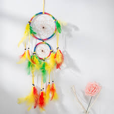 Asian Dream Catcher 100 Traditional Rainbow Dream Catcher with Feathers Wall or Car 87