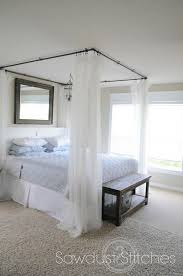 DIY Canopy Bed without Drilling | Apt. Ideas. | Diy bed, Diy canopy ...