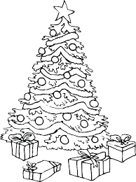christmas tree with presents coloring pages. Perfect Presents Christmas Gift Coloring Page Presents Present Pages Of Big Trees And  Free Printable Colouring Tree A On With