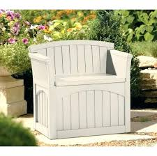 outdoor chair cushion storage bags patio bench furniture plastic garden with seat box deck f