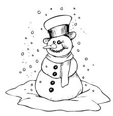 Template Of A Snowman Snowman Hat Printable