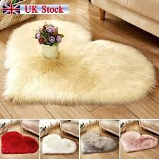 hot love heart shaped gy fluffy rugs anti skid area rug carpet bedroom uk