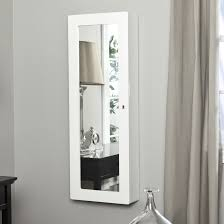 pleasant furniture paloma locking wooden wall jewelry armoire high gloss throughout full length mirror with jewelry storage