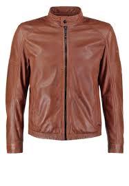 strellson men leather jackets sportswear trio leather jacket cognac strellson jeans strellson