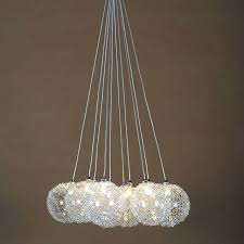 hanging ball chandelier aluminum wire glass ball chandeliers heads led hanging lighting 1v round ball hanging
