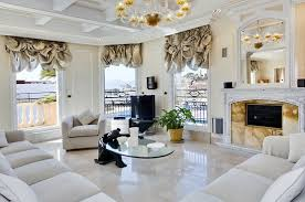Living Room Marble Floor Design
