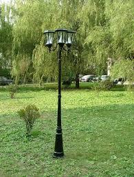 exterior solar lamp post lights. triple light post exterior solar lamp lights n