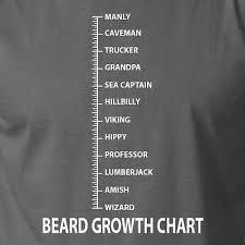 Beard Growth Chart Sweatshirt Beard Growth Chart Funny Hipster Facial Hair Trucker Dad Grand Wizard T Shirt Ebay