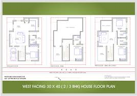 30 x 40 west face 2 or 3 bhk floor plan