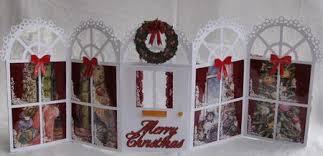 Christmas Windows Doors Tri Fold Gatefold Card