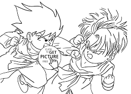 Small Picture Dragon Ball Z Coloring Page Online 2390