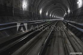 empty subway tunnel. Plain Tunnel Empty Subway Tunnel 3D Illustration To Tunnel
