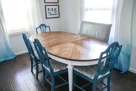 Image Pinterest Luckily My Blue Chairs Look Great With The Table As Well Refinish Dining Table Lovely Etc How To Refinish Worn Out Dining Room Table Lovely Etc