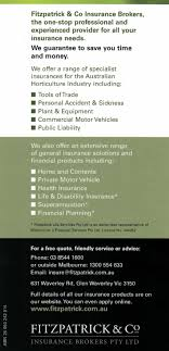 fitzpatrick co also offer other insurance s such as tools of trade personal accident sickness plant and equipment and commercial motor vehicle