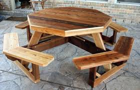 how to build a round picnic table the new way home decor give a little enhancement for your outdoor space with round picnic table