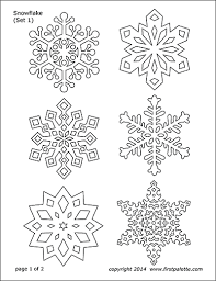 Paper Snowflake Templates Free Printable Templates