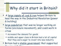 ap world industrial revolution basic   4 why did