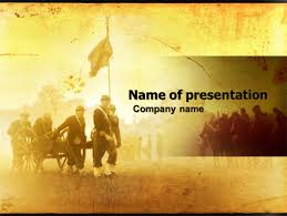 america ppt template american civil war powerpoint template backgrounds 05086