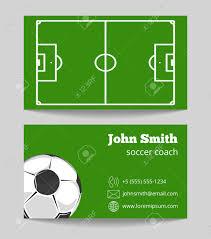 Soccer Business Card Soccer Green Field Business Card Template Football Field On