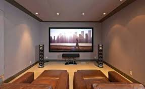 movie room lighting. Home Theater Lighting Awesome With Recessed And Leather Chairs Ottomans . Movie Room