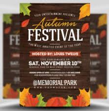 Fall Festival Flyers Template Free Autumn Fall Flyer Templates Archives Flyerheroes