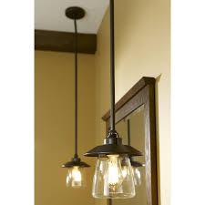 rustic mini pendant light and allen roth bristow in w