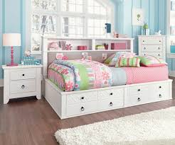 white bookcase storage bed. Delighful Storage Beautiful Full Size Bookcase Bed 9 2923 2 On White Storage